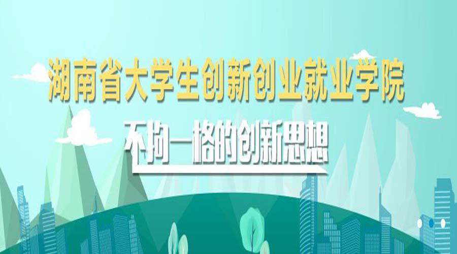 湖南省大学生创新创业就业学院省校两级云平台上线运行
